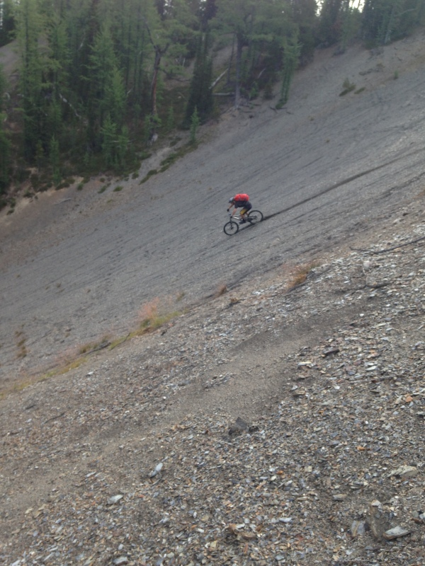 A little big mountain scree riding to make it feel like riding in the movies.
